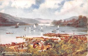 Boatlading Stage Bowness United Kingdom, Great Britain, England 1907