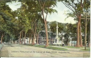 Augusta, Me., Soldiers Monument at the corner of State Street