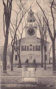 Maine Belfast First Church Built 1818 1945