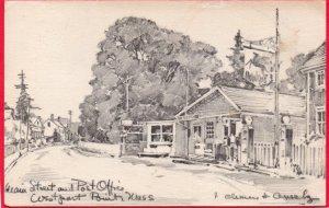 12667 Mainstreet & Post Office, Mobil Gas Station, Westport Point, Mass