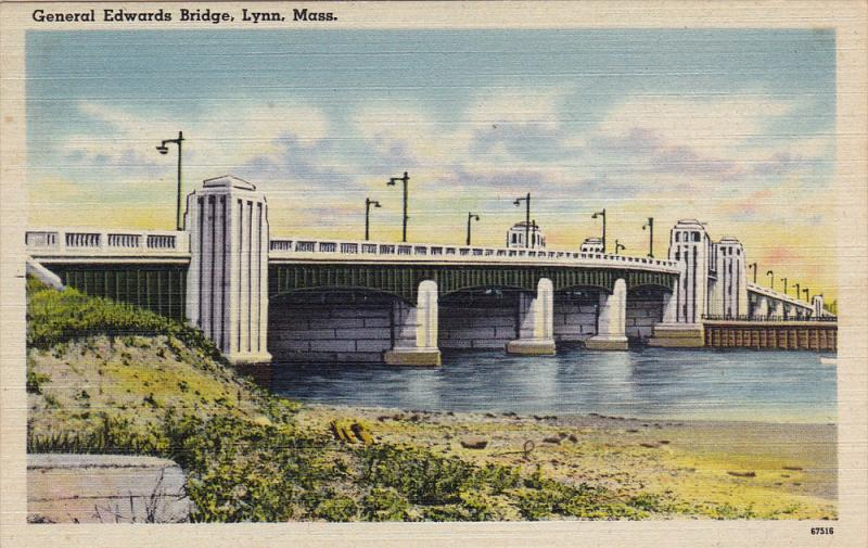 The General Edwards Bridge,  Lynn,  Massachusetts,  30-40s