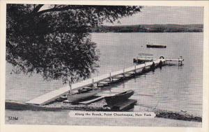 New York Point Chautauqua Dock Along The Beach Dexter Press