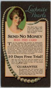 Chicago, Illinois Postcard LACHNITE PEARLS Harold Lachman Company c1930s