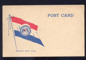 MISSOURI STATE FLAG MO. VINTAGE PATRIOTIC POSTCARD