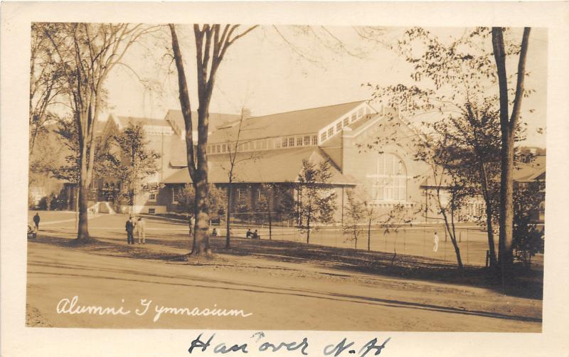 Hanover New Hampshire~Dartmouth College~Alumni Gymnasium~1930s RPPC