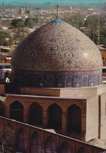 Dome of Sheikh Lotfollah Mosque , Isfahan ,  IRAN , 50-70s