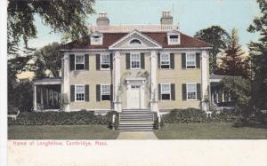 CAMBRIDGE, Massachusetts, 1900-1910's; Home Of Longfellow