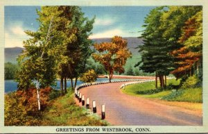 Connecticut Greetings From Westbrook 1941
