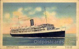 P.& O. Turbine Passenger Steamship Florida, Steamer Ship Writing on back writ...