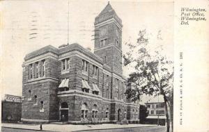 Wilmington Delaware Post Office Street View Antique Postcard K90529
