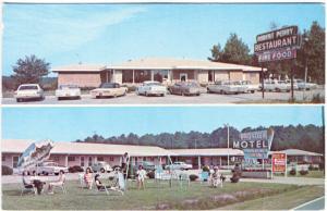 Sharpsburg NC Bright Leaf Motel Robert Perry Restaurant Old Cars Postcard