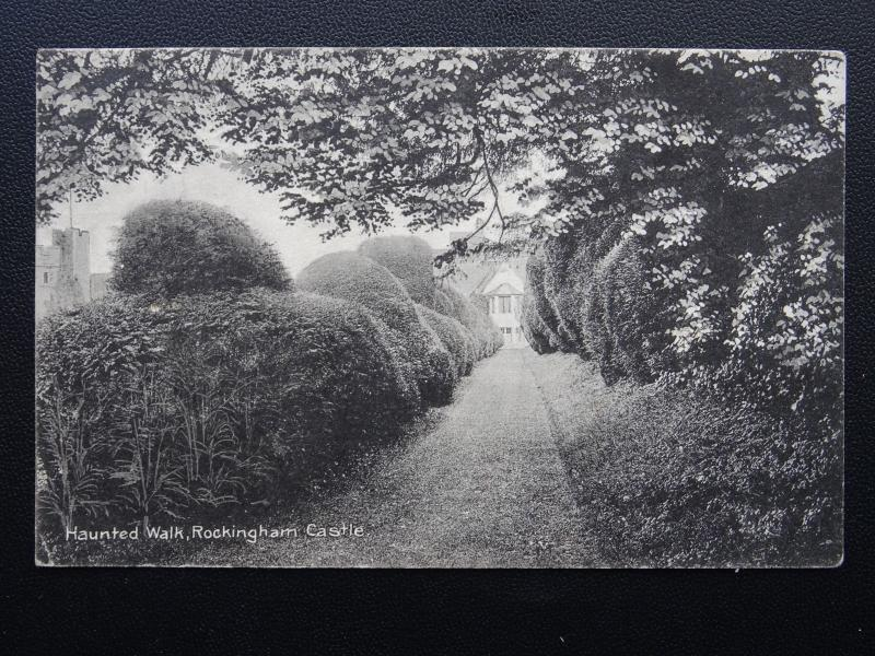 Northamptonshire ROCKINGHAM CASTLE Haunted Walk - Old Postcard by H.H. Markham