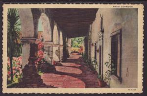 Corridor,Mission San Juan Capistrano,CA Postcard