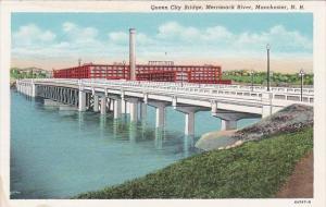 New Hampshire Manchester Queen City Bridge Merrimack River