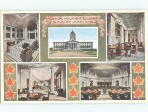Unused W-Border PARLIAMENT BUILDINGS Winnipeg Manitoba MB E8318