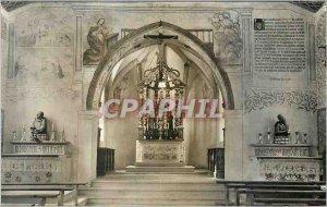 Postcard Modern Flueli Ranft Jnneres der untern Ranftkapelle Christ