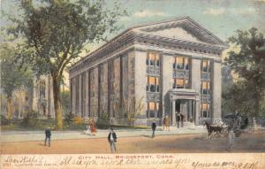 A40/ Bridgeport Connecticut Ct Postcard 1907 City Hall Building