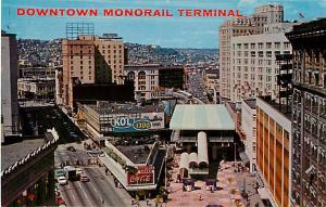 Monorail Terminal in Westlake Mall, Seattle, WA, Washington, Pre-zip Chrome