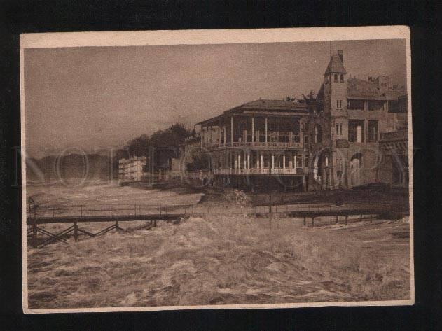 054324 CAUCASUS SOCHI Riviera & quay in storm Old