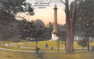 Rice Monument and People's Park Limerick Ireland Rips on back