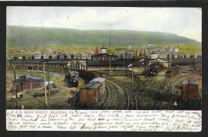 Pennsylvania Railroad Main Train Depot Reading PA Used c1906