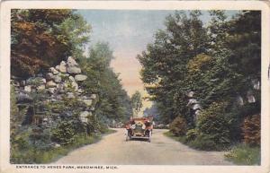 Entrance To Henes Park Menominee Michigan