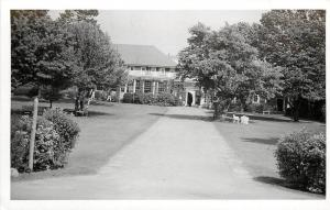 c1950 Real Photo PC Offices of Fessenden Boarding School for Boys West Newton MA