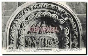 Postcard Old Vezelay Madeleine Church
