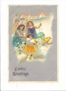 Easter Greetings,Angels Sing & Watch Celebration,1909
