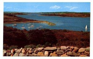 MA - Martha's Vineyard Island. Chilomark, Clam Point Cove & Menemsha Pond