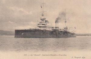French Warship ; Le Bouvet . Cuirasse d'Escadre a Tourelles , 00-10s