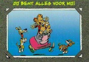 Cartoons Ju Bent Alles Voor Mij! Grandma Playing with Child Dogs Postcard