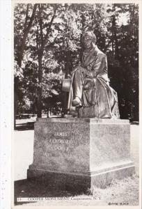 New York Cooperstown James Fenimore Cooper Monument 1948 Real Photo