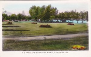 RP: KAMLOOPS, British Columbia, Canada; Tinted, The park and Thompson River, ...