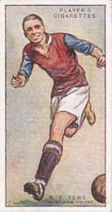 Player Vintage Cigarette Card Footballers 1928 No 50 T P Yews West Ham United