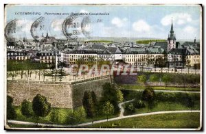 Luxembourg Old Postcard Panorama with Square Castitution
