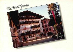 St Wolfgang Marktplatz mit Hotel Post Romantikhotel Weissen Rossl Postcard