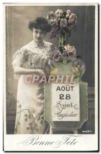Postcard Old Augustine Surname