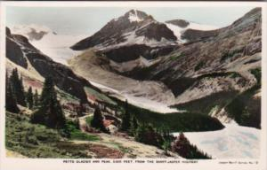Canada Peyto Glacier and Peak From Banff-Jasper Highway 1953 Real Photo