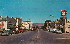 Automobiles Street Scene Yreka California 1960s Postcard Eastman 20-12814