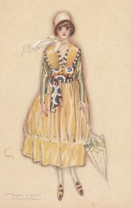 ART DECO ; MAUZAN ; Female Fashion Portrait #4, 1910-30s