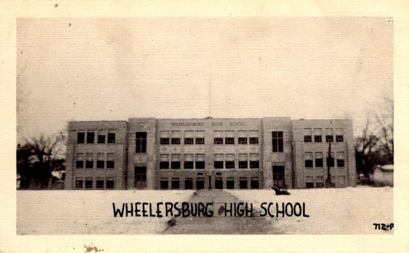 Wheelersburg, Ohio - A view of the High School - c1940