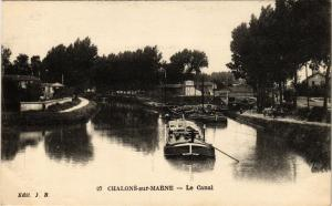 CPA CHALONS-sur-MARNE - Le Canal (743083)