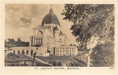 RPPC ST. JOSEPH'S ORATORY Montreal, Canada c1940s Vintage Postcard