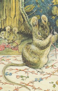 The Tailor Of Gloucester Mouse 1903 Beatrix Potter Book Postcard