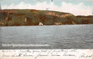 HUDSON RIVER NY INDIAN HEAD OF PALISADES POSTCARD c1906 ALLENTOWN HARRISBURG RPO