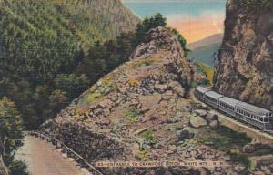 New Hampshire Train At Entrance To Crawford Notch 1942