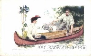 Artist Signed Howard Chandler Christy, Canoemates Unused