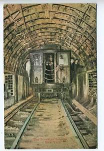 Brooklyn NY Subway  Railway Postcard
