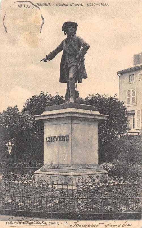 France Verdun General Chevert Statue Monument